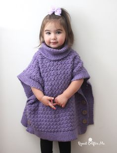 Yarnspirations Crochet Poncho For You and Me by Repeat Crafter Me