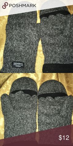 Thermosoft insulation 40 Gram gloves Grey gloves Accessories Gloves & Mittens