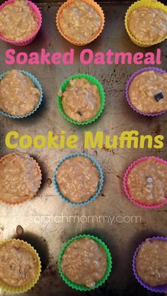 Soaked Oatmeal Cookie Muffins