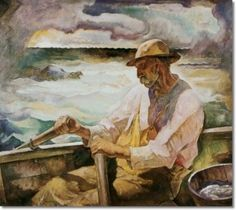 Newell Convers Wyeth - Captain Brown Port Clyde Maine ca.1934 -