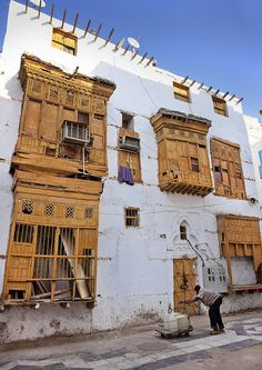 Old ottoman house Moucharabiah in Jeddah - Saudi Arabia by Eric Lafforgue