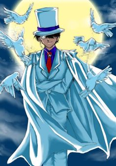 Kaito Kid another epic awesome villain also known as the Phantom Theif