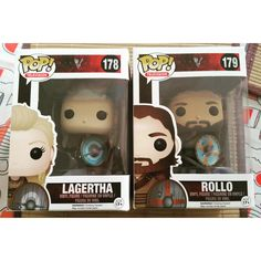 Super excited I finally received my two favorite Funko Pop #Vikings @KatherynWinnick @CliveStanden #Rollo #Lagertha
