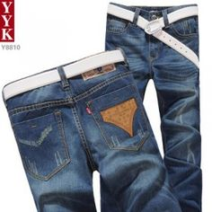 2012 new style fall clothing blue color jeans male pants straight male practice moral culture trousers Han Banchao the big code leisure cat to $67.06