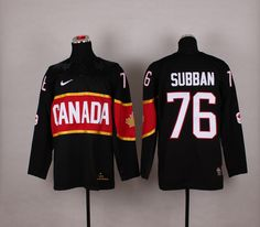 Team Canada 76 P.K. SUBBAN 2014 Winter Olympics Jersey - Black