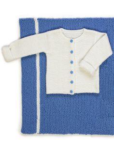 Vauvan valkoinen jakku Novita Nalle   Novita knits