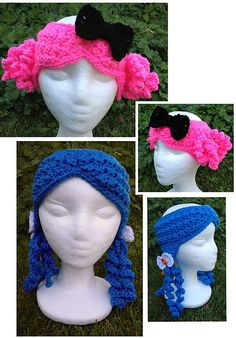 Ravelry: Hairbands pattern by Heidi Yates.   Fun for a play date with my little princess.