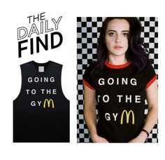 """""""Daily Find: Burgers And Friends Tank Top"""" by polyvore-editorial ❤ liked on Polyvore featuring Burger and Friends and DailyFind"""