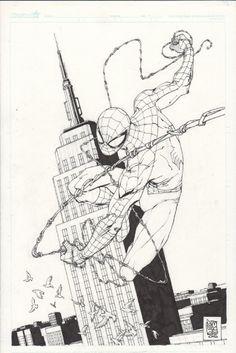 Original Comic Art titled Giuseppe Camuncoli - Spider-Man, located in J.'s Amazing Spider-Man Comic Art Gallery Spiderman Noir, Comics Spiderman, Spiderman Tattoo, Spiderman Drawing, Black Spiderman, Marvel Comics Art, Amazing Spider Man Comic, Amazing Spiderman, Arte Dc Comics