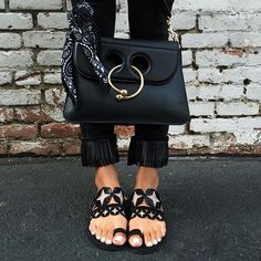 jw_anderson @matchesfashion bag, @nicholaskirkwood sandals via @fwrd, @paigedenim jeans
