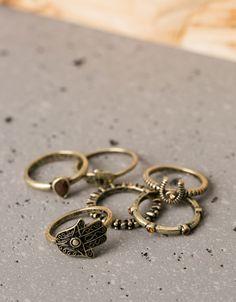 Set 6 anillos mano de Fatima y herradura 4,99 €