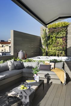 Private Sunset (or Sunrise) Roof Terrace Design, Rooftop Design, Small Balcony Design, Small Pool Design, Patio Design, Small Backyard Pools, Backyard Pool Designs, Swimming Pools Backyard, Backyard Patio
