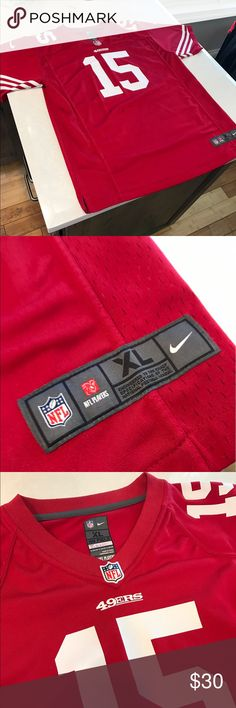 San Francisco 49ers Crabtree Jersey NFL 49ers Jersey. Great shape, minor stitching issue as pictured, nothing serious. One small stain too as pictured but no noticeable. Great jersey for a steal. Nike Other