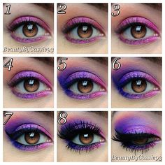 Bright Purple and Pink