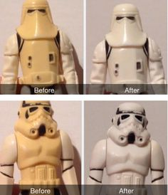 How To De-Yellow Your Vintage Action Figures - had no idea you could do this! Very cool trick.