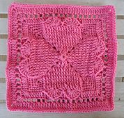 "Ravelry: Celebrating the Heart 12"" Square pattern by Aurora Suominen"