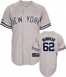 Joba Chamberlain Jersey: Adult Majestic Road Grey Replica #62 New York Yankees Jersey $99.99 http://www.fansedge.com/Joba-Chamberlain-Jersey-Adult-Majestic-Road-Grey-Replica-62-New-York-Yankees-Jersey-_-208252112_PD.html?utm_content=pla=pinterest_pfid32-07845