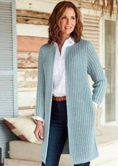Crochet Coat, Crochet Cardigan Pattern, Crochet Clothes, Knitted Coat Pattern, Crochet Granny, Cable Cardigan, Long Cardigan, Cable Knit, Summer Cardigan