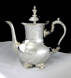 Old English Silver Plate Hollowware Coffee Pot by Poole Silver Co. Pattern #5000