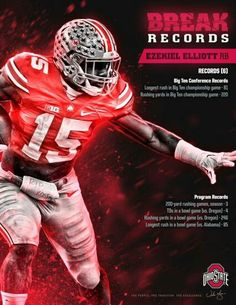 "Ezekiel "" Zeke "" Elliott #15 Ohio State Football"