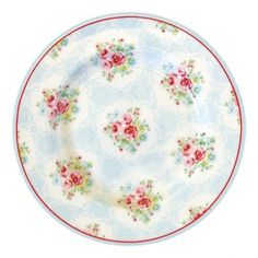 GreenGate Spring/Summer 2015 Stoneware Small Plate Olivia Pale Blue D 15 cm
