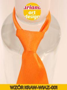 Krawat na butelkę wiązany, wódkę 5 szt zawieszki weselne PL - wzór węzła 001 Alcohol