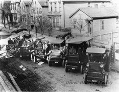 Stroh's first truck fleet, 1910 (Detroit Hist. Soc.)