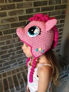 Pinkie Pie My Little Pony crochet hat PATTERN por TaeTaesCrochet