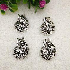 6pcs-ammonite-fossil-spiral-sea-shell-Tibetan-Silver-Bead-charms-Pendants-3