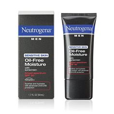 Neutrogena Men® Sensitive Skin Oil-Free Moisture with sunscreen Broad Spectrum SPF 30