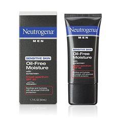 Neutrogena Men Sensitive Skin Oil-Free Moisture, $6.99 | 23 Men's Grooming Products That Actually Work