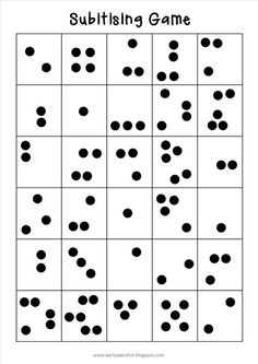 Subitising is an essential skill for developing number sense: - Early Years Fun: Subitising Game. Subitising is an essential skill for developin. Numbers Kindergarten, Math Numbers, Preschool Math, Math Classroom, Classroom Ideas, Kindergarten Math Activities, Early Math, Early Years Maths, E Learning