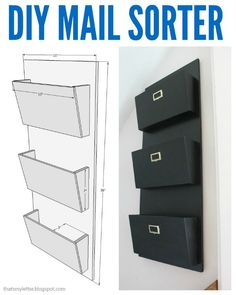 That's My Letter: diy Mail Sorter with free plans
