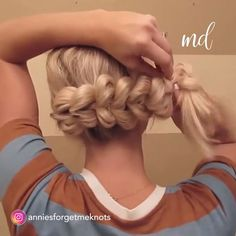 Give thanks for this gorgeous hair! Pull through Braid❤️❤️❤️. We love this absolutely stunning bun hair tutorial Tangled Thursday-French Braid Half up Bun My easy go to hair for the gym, beach or running errands. Link in bio wedding hair style…. Pretty Hairstyles, Braided Hairstyles, Wedding Hairstyles, Braided Updo, Front Hair Styles, Curly Hair Styles, Hair Donut Styles, Hair Front, Pull Through Braid