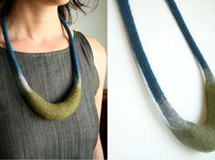 crescent necklace - by papaver vert