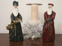 My taller Paper Mache Santa's