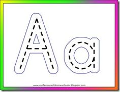 laminate these and use play doh to make the letters on top.  then we can also use these when we teach handwriting...