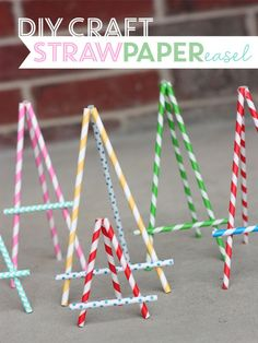 Use straws to make Paper Straw Easels. Cute to display place cards or small artwork