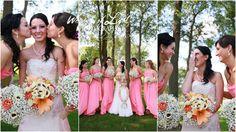 St Cloud, MN wedding photographer - coral pink bridesmaid dresses - www.facebook.com/whispersoflightphotography - www.whispersoflightphotography.com