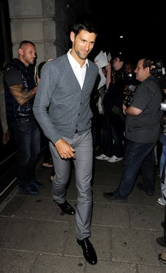 Novak Djokovic looking stylish! He can be a fashion guy too~~