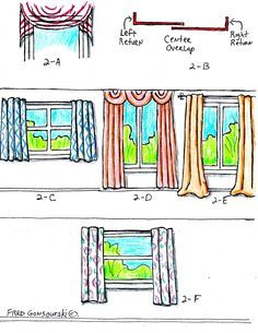 An awesome guide on the proper way to hang curtains...hanging curtains has almost been marriage ending for me..with this guide, we are able to hang curtains with ease.  fewwwff!