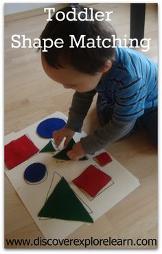Toddler Shape Matching - Pinned by @PediaStaff – Please Visit ht.ly/63sNtfor all our pediatric therapy pins