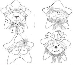 Crochet ideas that you'll love Christmas Colors, Christmas Art, Christmas Projects, All Things Christmas, Felt Crafts, Christmas Crafts, Christmas Decorations, Felt Patterns, Applique Patterns