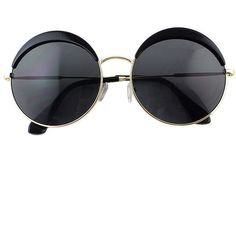 Round Black Oversized Sunglasses (€11) ❤ liked on Polyvore featuring accessories, eyewear, sunglasses, sheinside, round sunglasses, oversized round glasses, oversized glasses, round sunnies and rounded glasses