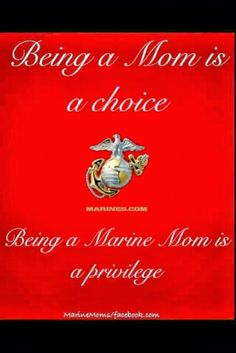 One Proud M.O.M. (Mom of Marine)
