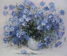 Волошки, колокольчики,лето... / природа, цветы, лето, живопись, художники, васильки