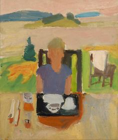 Lawrence at the Breakfast Table.  Fairfield Porter.