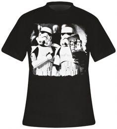T-Shirt Mec STAR WARS - Stormtrooper Selfie - http://rockagogo.com