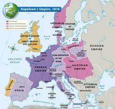 L'impero napoleonico nel 1810