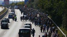 Tra le righe...: Austria e Germania aprono le frontiere ai profughi 3mila partiti dall'Ungheria già al confine austriaco